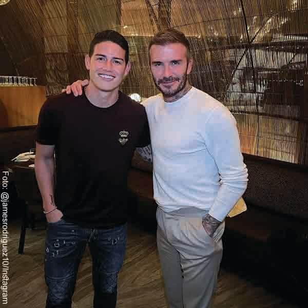 James Rodríguez posó con David Beckham y fans creen que podría ir a la MLS