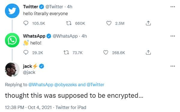 Trino de fundador de Twitter sobre WhatsApp
