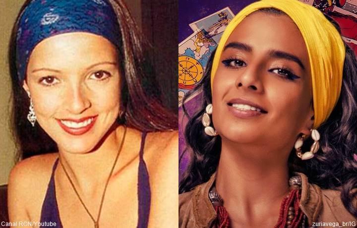 Foto en mosaico de Susana Torres y Sofía Engberg para 'La venganza de las Juanas' Netflix vs. telenovela 'Las Juanas' 1997