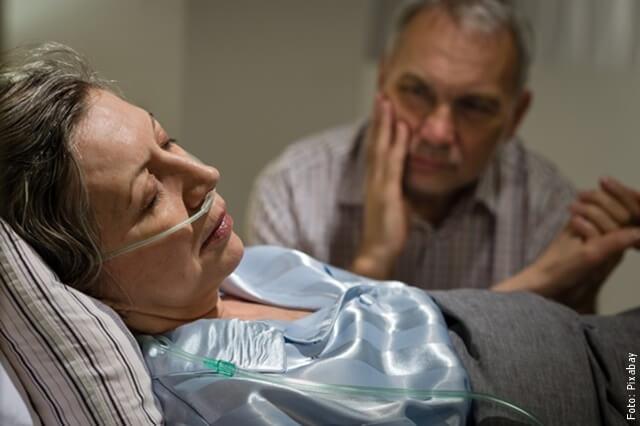 foto de pareja en hospital