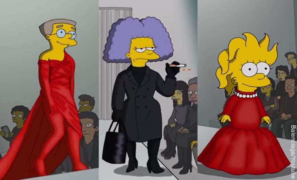 Los Simpson modelaron para Balenciaga en la Semana de la Moda de París