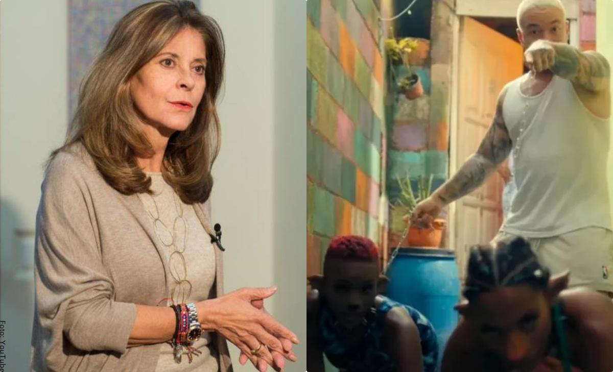 """Marta Lucía Ramírez por medio de carta rechazó canción """"Perra"""" de J Balvin"""